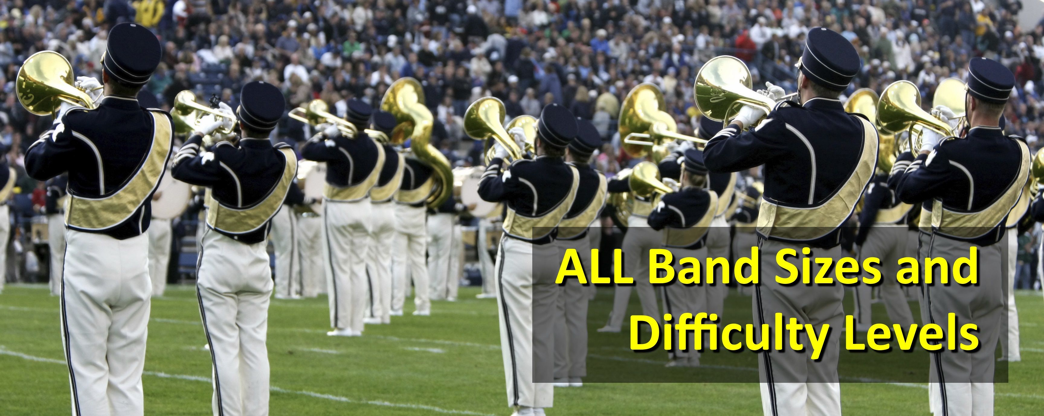 Custom marching drill for all band sizes and difficulties