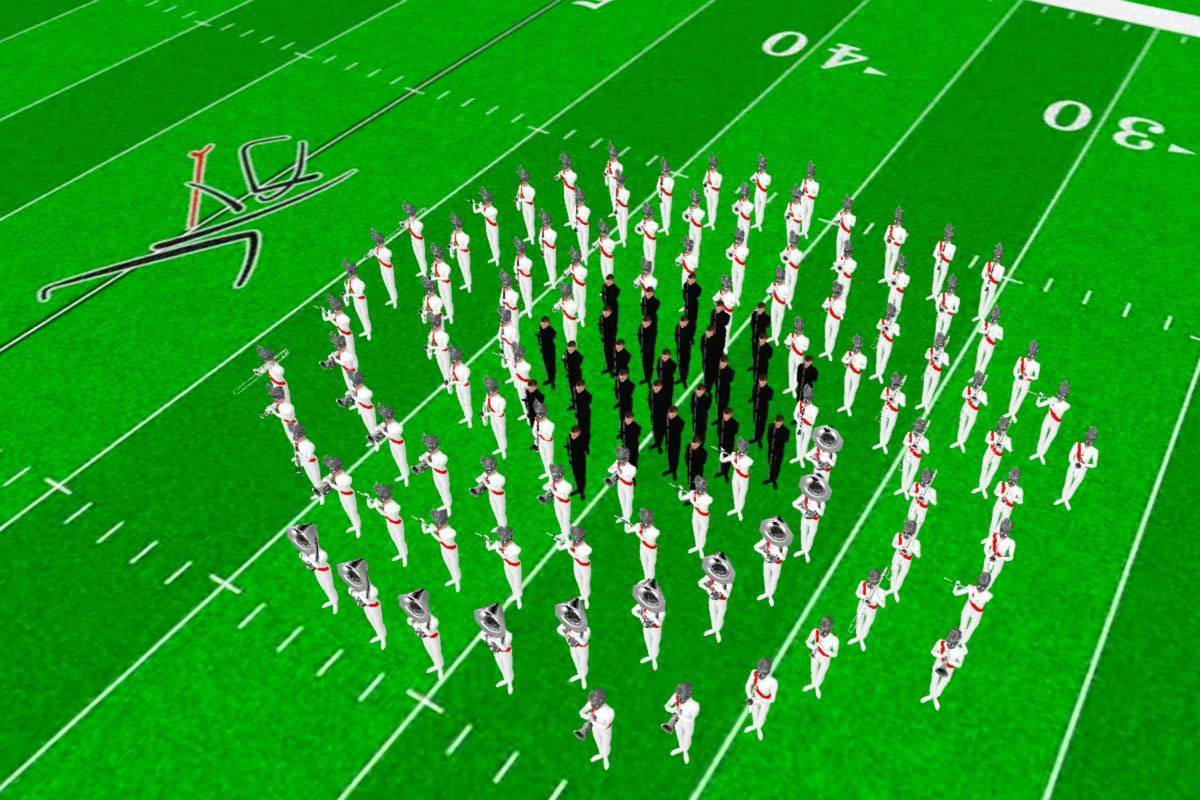 marching band drill designer